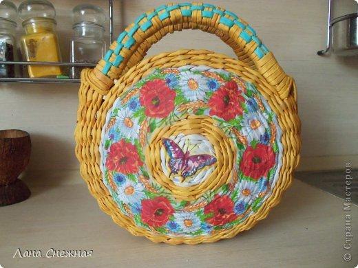 Мастер-класс Поделка изделие Плетение Сумочка для девчушки Бумага газетная Трубочки бумажные фото 17