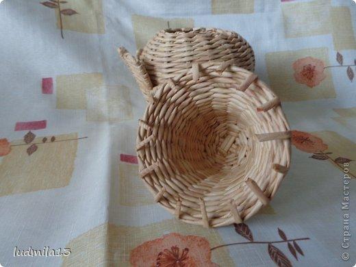 Мастер-класс Поделка изделие Пасха Плетение МК курочки Бумага газетная Трубочки бумажные фото 29