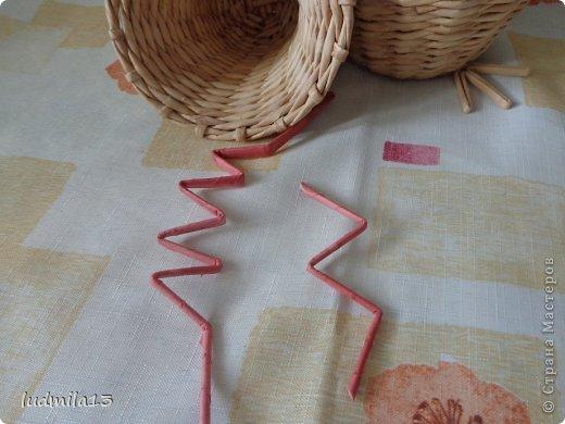 Мастер-класс Поделка изделие Пасха Плетение МК курочки Бумага газетная Трубочки бумажные фото 31