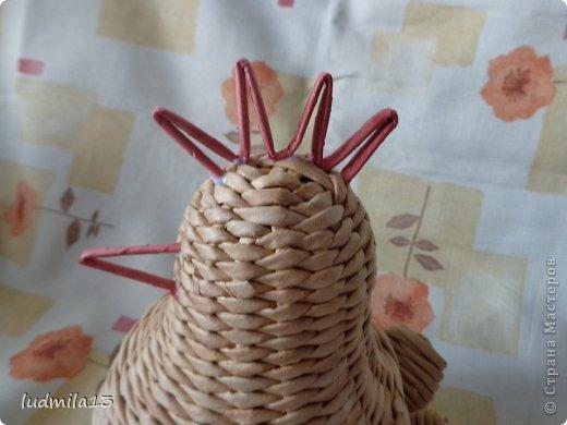 Мастер-класс Поделка изделие Пасха Плетение МК курочки Бумага газетная Трубочки бумажные фото 36