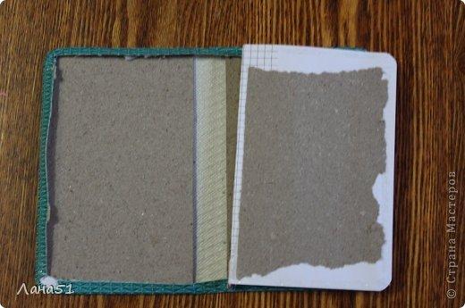 Мастер-класс Скрапбукинг Блокноты в мягкой обложке Бусинки Ленты Ткань фото 3