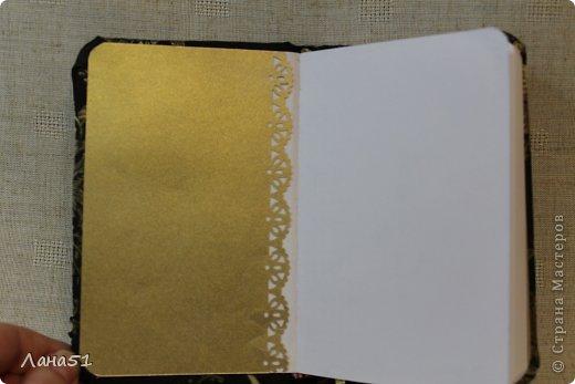 Мастер-класс Скрапбукинг Блокноты в мягкой обложке Бусинки Ленты Ткань фото 14