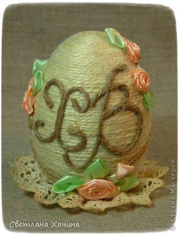 И снова я с яйцами. Это переделка , я под впечатлением от шпагата решила переделать яйцо которое было оклеено синим велюром. Не жалею. Оставила его шкатулкой. Мои предыдущие опыты с Пасхальными яйцами можно посмотреть здесь : https://stranamasterov.ru/node/722843 https://stranamasterov.ru/node/715558 https://stranamasterov.ru/node/712255 фото 10