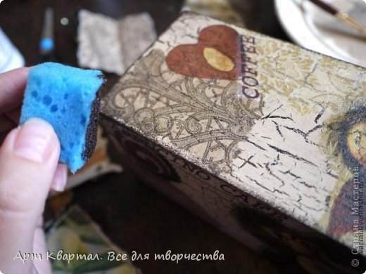 Пошаговый фото мастер-класс для декора стаканчика, например для кистей. фото 6