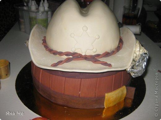 Торт для ковбоя. Предлагаю Вашему вниманию небольшой МК по сборке такого тортика... фото 7