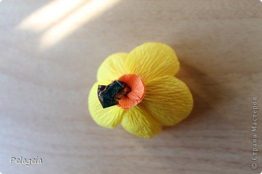 Мастер-класс Свит-дизайн 8 марта Моделирование конструирование Нарциссы МК Бумага гофрированная фото 12