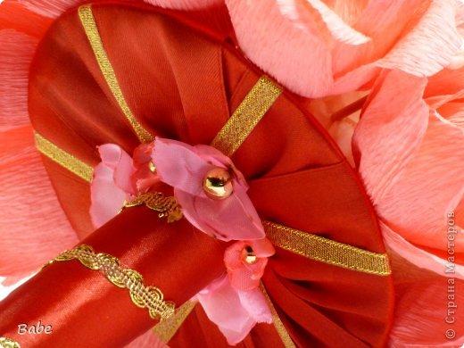 Доброго времени суток, Страна Мастеров! Вот появилось вдохновение на ручной букетик. Большое спасибо МОТЮЛЬ https://stranamasterov.ru/node/621257 за замечательный МК! Розовые цветочки делала из атласной ленты по МК  Yahneyka https://stranamasterov.ru/node/717118, тоже ей огромное спасибо! фото 3