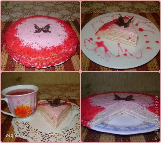 Доброго времени суток всем заглянувшим:) Еще одна вариация на тему Масленицы-Блинный торт со сметанно-малиновым суфле. фото 1