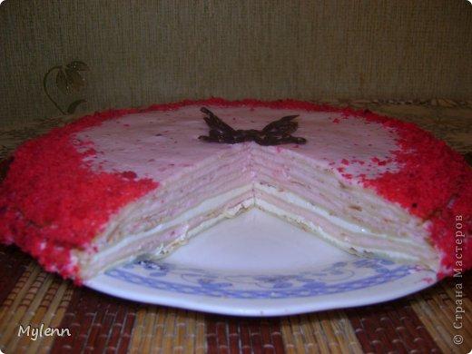 Доброго времени суток всем заглянувшим:) Еще одна вариация на тему Масленицы-Блинный торт со сметанно-малиновым суфле. фото 12