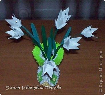 """Поделка выполнена по книге Т. Просняковой """"Забавные фигурки. Модульное оригами"""""""