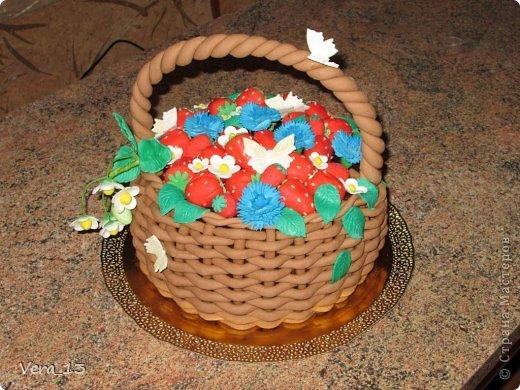 Мастер-класс 8 марта День рождения Лепка Корзинка из мастики МК Продукты пищевые фото 1
