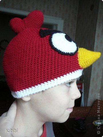 Шапочка Angry Birds, оказалась очень популярной мне заказали 3 штуки) фото 1