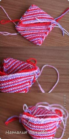 Мастер-класс Поделка изделие Вязание спицами Мячи из остатков пряжи МК и описание Пряжа фото 12