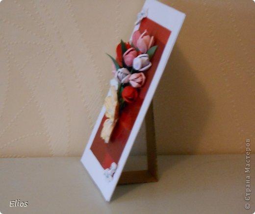 Открытка с тюльпанами фото 2