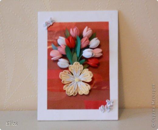 Открытка с тюльпанами фото 1