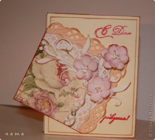 Поскрапила в преддверии праздника,  будут дариться вместо открыток ...весенние все, немножко лирические  фото 13