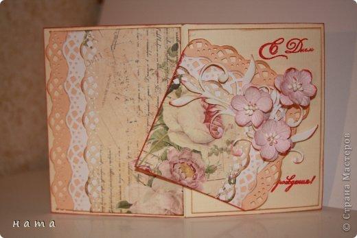 Поскрапила в преддверии праздника,  будут дариться вместо открыток ...весенние все, немножко лирические  фото 14