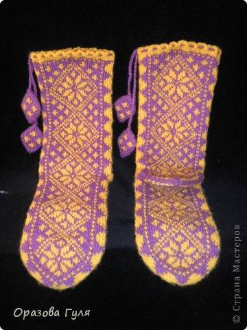 Теплые носки с орнаментом. Джурабы. фото 1