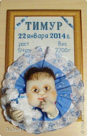 Это метрика для новорожденного малыша. На сайте похожих работ не нашла (а может плохо искала?), хочу показать, как я ее делала. фото 11