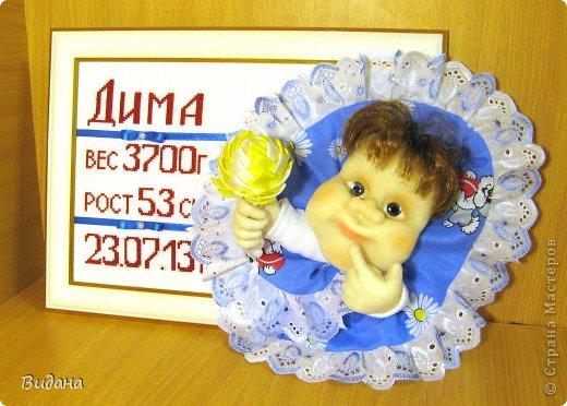 Это метрика для новорожденного малыша. На сайте похожих работ не нашла (а может плохо искала?), хочу показать, как я ее делала. фото 12