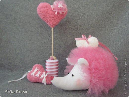 Игрушка Мастер-класс 8 марта День рождения Шитьё Ежик Розовое облачко Бусинки Нитки Сетка Ткань фото 1