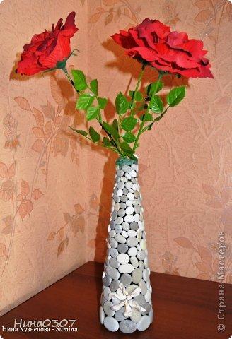 Вот такое применение нашла для гальки с моря))) цветы не мои.