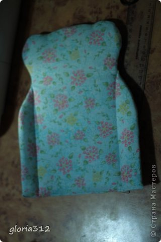 Кукольная жизнь Мастер-класс 8 марта Моделирование конструирование Кресло в стиле Шебби-шик  Картон Кружево Поролон Ткань фото 12