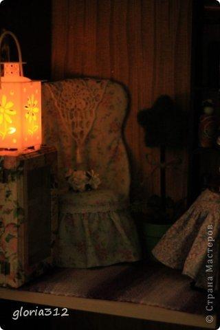 Кукольная жизнь Мастер-класс 8 марта Моделирование конструирование Кресло в стиле Шебби-шик  Картон Кружево Поролон Ткань фото 19