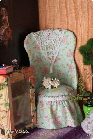 Кукольная жизнь Мастер-класс 8 марта Моделирование конструирование Кресло в стиле Шебби-шик  Картон Кружево Поролон Ткань фото 1