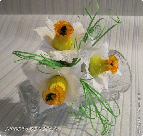 Мастер-класс Свит-дизайн 8 марта Моделирование конструирование Нарциссы Бумага гофрированная Продукты пищевые фото 18