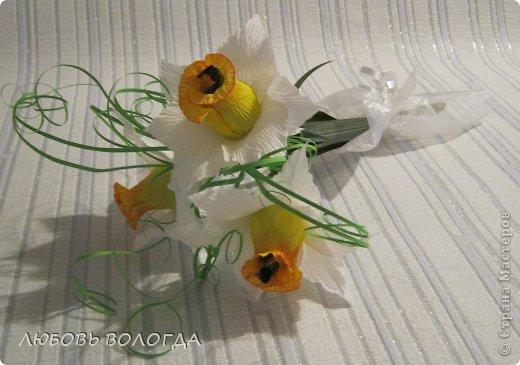 Мастер-класс Свит-дизайн 8 марта Моделирование конструирование Нарциссы Бумага гофрированная Продукты пищевые фото 19
