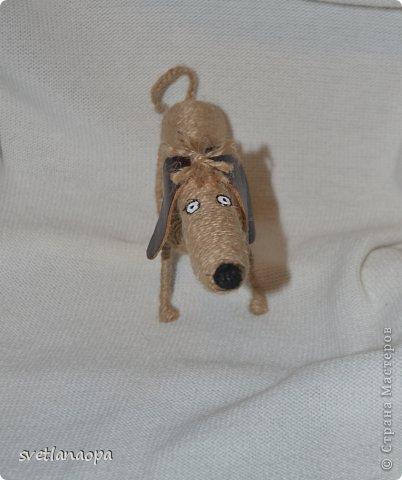 Мастер-класс Моделирование конструирование МК такса и крыска из шпагата Шпагат фото 11