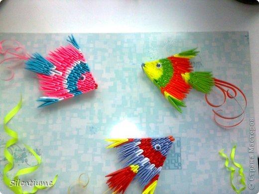 рыбки - модульное оригами