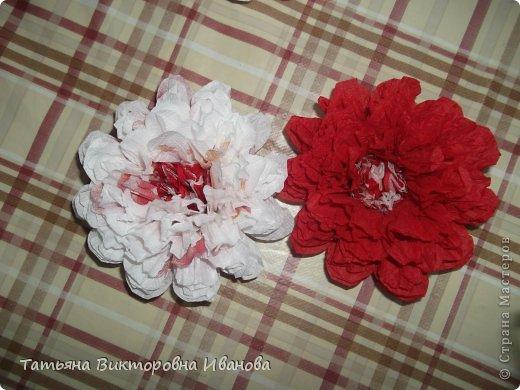 Всем доброго дня суток! Сегодня я вам покажу как делаются такие цветочки. Может кто- то до меня уже такие цветы показывал, но я такие не встречала нигде. фото 14