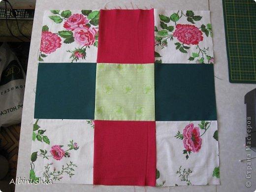 Интерьер Мастер-класс 8 марта Пэчворк Одеяло Розовый сад Ткань фото 2