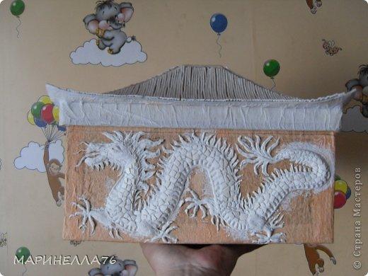 Мастер-класс Картонаж Ларец восточный Картон Салфетки Скорлупа яичная фото 7