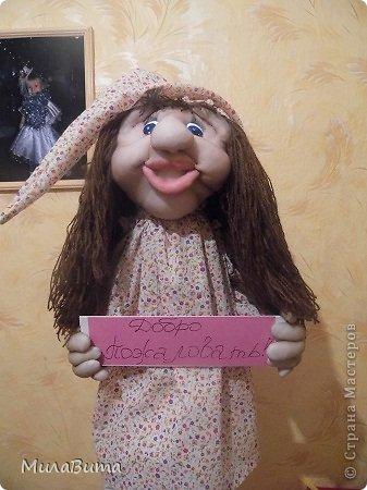 Куклы Мастер-класс Куколка Встречашка в прихожую МК фото 1