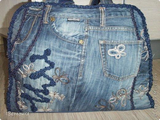 Дорожная сумка из старых любимых джинсов фото 3