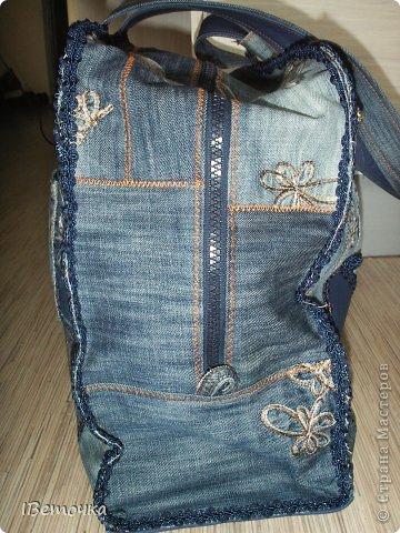 Дорожная сумка из старых любимых джинсов фото 4