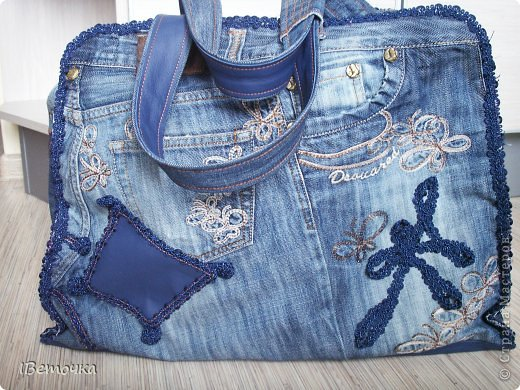 Дорожная сумка из старых любимых джинсов фото 2