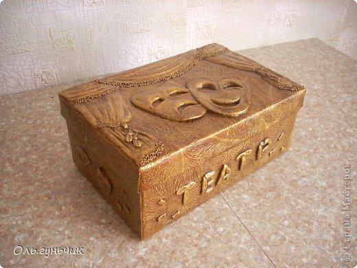Приветствую всех жителей страны!!! Хочу показать вам театральную коробку, которую попросили меня сделать в садике. Ребятишки будут складывать туда свои маски. Покажу со всех сторон... фото 1