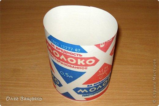 """В блоге Мастерицы annalita https://stranamasterov.ru/user/164763 встретил упаковку в виде пакета молока: https://stranamasterov.ru/node/590905 """"Молоко за вредность"""". Идея очень понравилась, и я решил сделать свой вариант упаковки, но технологически ближе к тому, как изготавливались """"пирамидки"""" на молокозаводах. фото 4"""