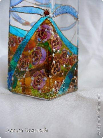 getimage_12 Вазы из стеклянных бутылок: декор, роспись и обрезка