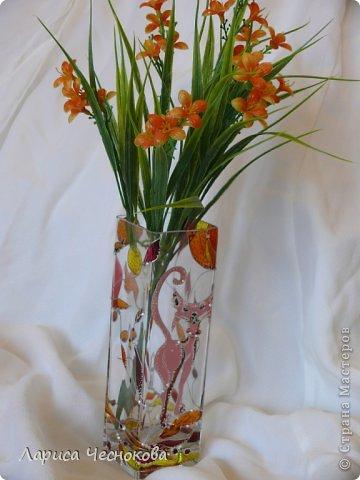 getimage_13 Вазы из стеклянных бутылок: декор, роспись и обрезка
