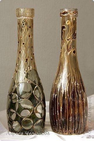 getimage_23_0 Вазы из стеклянных бутылок: декор, роспись и обрезка