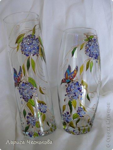 getimage_4 Вазы из стеклянных бутылок: декор, роспись и обрезка