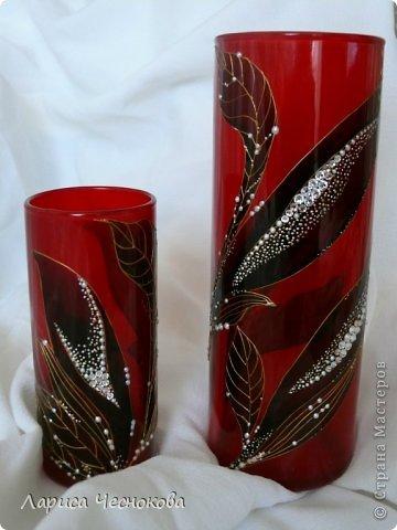 getimage_8_0 Вазы из стеклянных бутылок: декор, роспись и обрезка