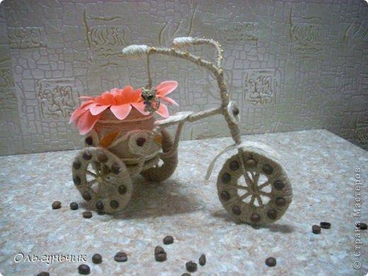 Доброго всем времени суток!!! Увидела я у Оли https://stranamasterov.ru/node/633971?c=favorite шпагатный велосипед и захотелось мне иметь такой же! Раз захотела, то вот он перед вами))) МК по велосипедам в Стране есть, но я делала немного по другому, поэтому показываю МК... фото 1