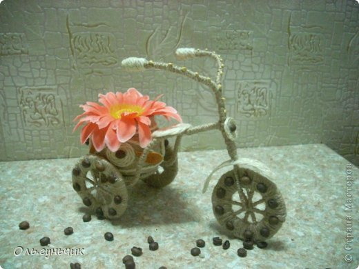 Доброго всем времени суток!!! Увидела я у Оли https://stranamasterov.ru/node/633971?c=favorite шпагатный велосипед и захотелось мне иметь такой же! Раз захотела, то вот он перед вами))) МК по велосипедам в Стране есть, но я делала немного по другому, поэтому показываю МК... фото 4
