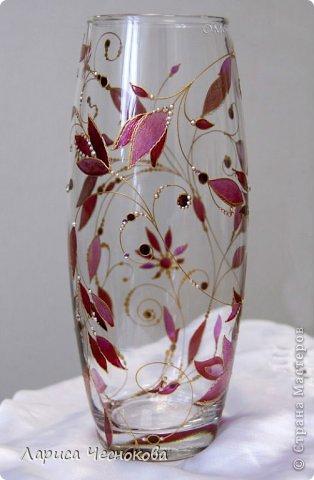 getimage_1 Вазы из стеклянных бутылок: декор, роспись и обрезка